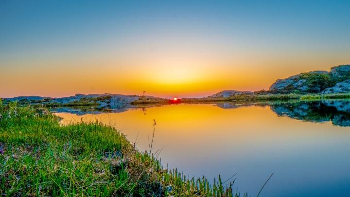 Vika solnedgang